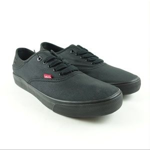 Levi's Men's Black Canvas Shoes Buck CT Skate NEW
